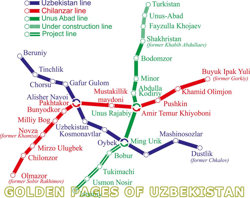 Tashkent subway. Tashkent underground map. Metro in Tahkent ... Taskent Uzbekistan Metro Map